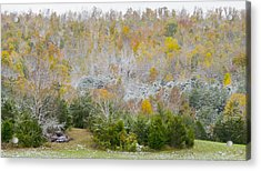 Acrylic Print featuring the photograph Early Snow Fall by Wanda Krack