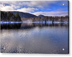 Early Snow On West Lake Acrylic Print by David Patterson