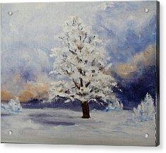 Early Snow Acrylic Print by Thomas Restifo