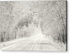 Early Snowfall Acrylic Print by Lori Deiter