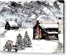 Early Snowfall Acrylic Print by Penny Everhart