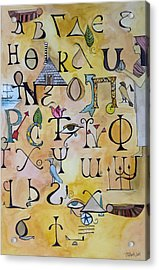 Early Song Of Words Acrylic Print by Claudia Cole Meek