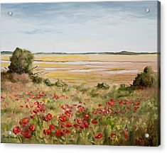 Early Spring Poppies Acrylic Print