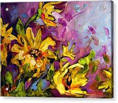 Early Sunflowers Acrylic Print