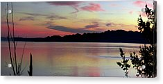 Early Whidbey Island Sunset  Acrylic Print by Mary Gaines