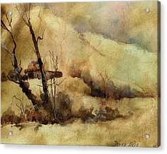 Early Winter Acrylic Print by Donna Elio