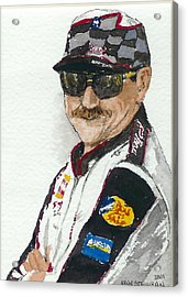 Acrylic Print featuring the painting Earnhardt Attitude by Lynn Babineau