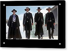 Earp Brothers And Doc Holliday Approaching O.k. Corral Tombstone Movie Mescal Az 1993-2015 Acrylic Print