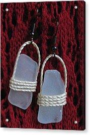 Earrings 1 Acrylic Print by Lorna Diwata Fernandez