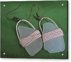 Earrings 4 Acrylic Print by Lorna Diwata Fernandez