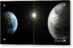 Earth And Exoplanet Kepler-452b Acrylic Print
