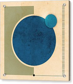 Earth And Moon Graphic Acrylic Print by Phil Perkins