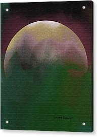 Earth And Moon Acrylic Print