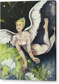 Earth Angel Acrylic Print by Georgia Annwell