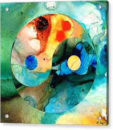 Earth Balance - Yin And Yang Art Acrylic Print by Sharon Cummings