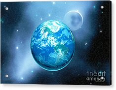Earth Acrylic Print by Corey Ford