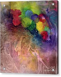 Acrylic Print featuring the painting Earth Emerging by Allison Ashton