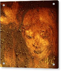 Acrylic Print featuring the painting Earth Face by Winsome Gunning