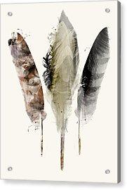 Earth Feathers Acrylic Print