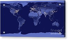 Earth From Space Acrylic Print by Delphimages Photo Creations