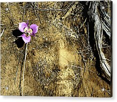 Acrylic Print featuring the photograph Earth Memories - Desert Flower # 2 by Ed Hall