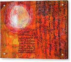 Acrylic Print featuring the mixed media Earth Music by Nancy Merkle