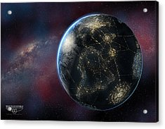 Earth One Day Acrylic Print by David Collins