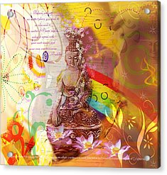 Earth Touching Buddha Acrylic Print
