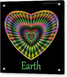 Acrylic Print featuring the digital art Earth by Visual Artist Frank Bonilla