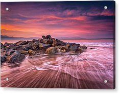 Acrylic Print featuring the photograph Earth, Water And Sky by Edward Kreis