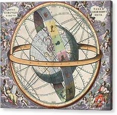 Earth With Celestial Circles Harmonia Acrylic Print