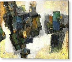Lemon And Tiles Acrylic Print by Behzad Sohrabi