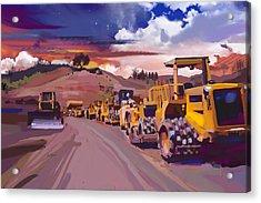 Earthmover Dawn Acrylic Print