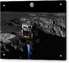 Acrylic Print featuring the digital art Earthrise by David Robinson