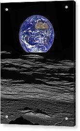 Earthrise Acrylic Print by Mark Kiver