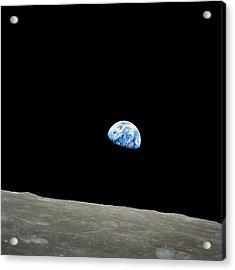 Earthrise - The Original Apollo 8 Color Photograph Acrylic Print by Nasa