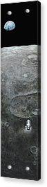 Earthrise  Acrylic Print by Simon Kregar