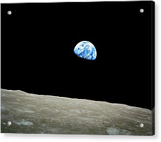 Earthrise Acrylic Print by Space Art Pictures