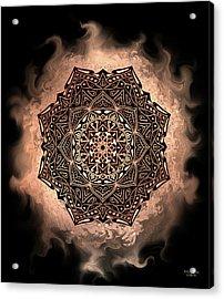 Earthy Mandala Acrylic Print