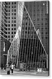 East 42nd Street, New York City  -17663-bw Acrylic Print