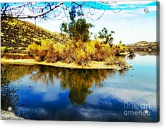 Acrylic Print featuring the photograph East Bay, Canyon Lake, Ca by Rhonda Strickland