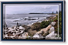 East Boothbay, Maine Ocean View, Framed Acrylic Print by Sandra Huston