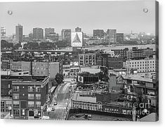 East Cambrdige Boston Skyline Aerial Citgo Sign Photo Acrylic Print by Paul Velgos