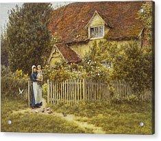 East End Farm Moss Lane Pinner Acrylic Print by Helen Allingham