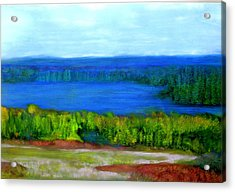 Acrylic Print featuring the painting East Grand Lake Maine by FeatherStone Studio Julie A Miller