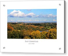 Acrylic Print featuring the digital art East Grinstead by Julian Perry