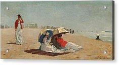 East Hampton Beach Long Island Acrylic Print by Winslow Homer