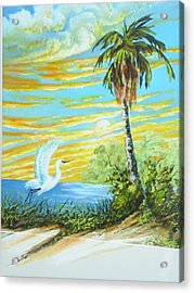 East Lake Acrylic Print by Dennis Vebert