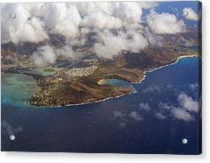East Oahu From The Air Acrylic Print