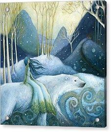 East Of The Sun West Of The Moon Acrylic Print by Amanda Clark